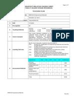 BMM1523 Engineering Materials Teaching Plan