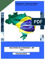 Relatório de atividades - MP - exercício 2010