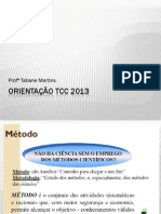 Orientações da Estrutura do TCC_Metodo