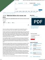 Mahindra Bolero ZLX Review, Test Drive Review Autocar India