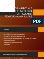 Particularitati Ale Durerii in Patologia Articulatiei