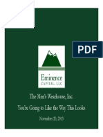 Eminence CapitalMen's Warehouse