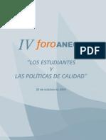 LOS ESTUDIANTES Y LAS POLITÍCAS DE CALIDAD