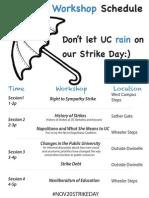 November 20 Solidarity Workshops, UC Berkeley