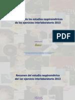 Resumen Respirometría Interlaboratorios 2013