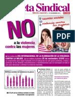 Pub107163 Gaceta Sindical (Edicion Especial n 179) 25 de Noviembre. CCOO Dice NO a La Violencia Contra La Mujer