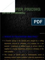 Transfer Pricing (Inter Divisional)