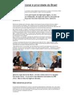 Defesa Nacional é prioridade do Brasil