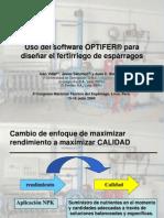 Uso del software Optifer para diseñar la fertirrigación del