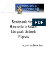 Servicios en La Nube y Herramientas de Software Libre Para La Gestion de Proyectos