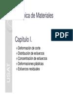 Capitulo I - Deformacion de Corte-Distribucion y Concentracion de Esfuerzos