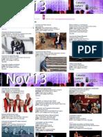 Agenda Cultural NOV Del 20 Al 24