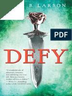 Sneak Peek; Defy by Sara B. Larson (excerpt)