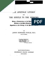 Apostolic Liturgy in the epistle of hebrews