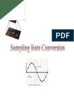 Sampling Rate Conversion Notes