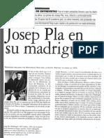 """Entrevista a Josep Pla """"Destino"""" 1972 (M Roig)"""