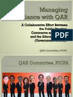 Managing Compliance With Qar Noemi Villaruz Qar Lecture 67th Picpa Anc 112812