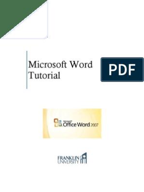 Microsoft Word Tutorial | Microsoft Word | Web Page