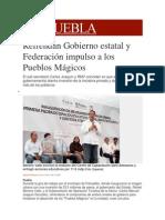 18-11-2013 Milenio.com - Refrendan Gobierno estatal y Federación impulso a los Pueblos Mágicos