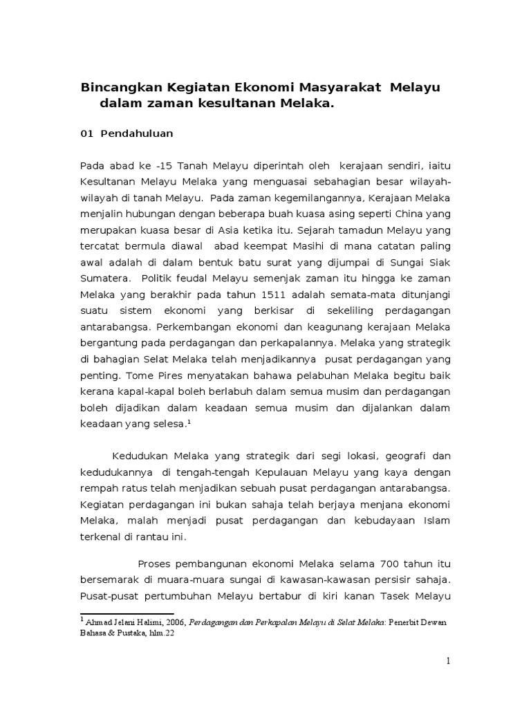 Kegiatan Ekonomi Zaman Kesultanan Melaka