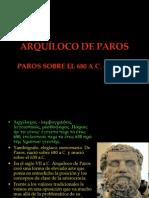 ARQUÍLOCO DE PAROS