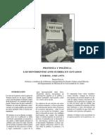 PROTESTA Y POLÍTICA  LOS MOVIMIENTOS ANTI-GUERRA EN ESTADOS UNIDOS, 1965-1975