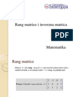 3.Rang Matrice i Inverzna Matrica
