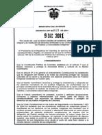 Decreto Ley Ng1. 633 de 2011