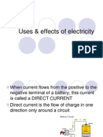 uses  effects of electricity
