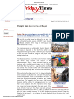 Myopic ban destroys a village by Raja Arsalan Khan