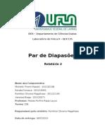 Laboratorio de fisica 2 - Diapasão