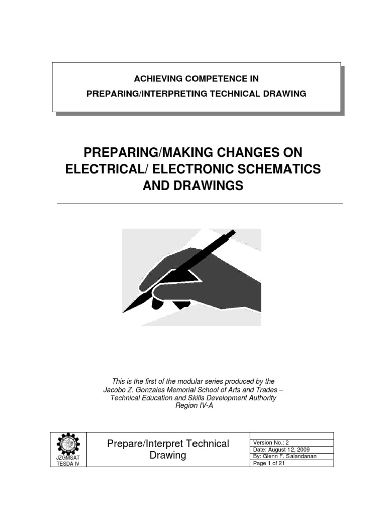 CBLM_Prepare, Make Changes on Electrical, Electronic Schematics and ...