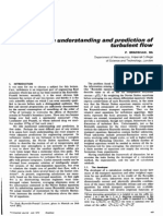 The Understanding and Prediction of Turbulent Flow (P. BRADSHAW, BA) Bueno