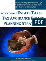 Gift and Estate Taxes - Tax Avoidance Estate Planning Strategies