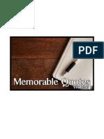 Memorable Quotes (Volume 2)