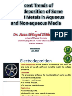 Recent Trends of Electrodeposition of Some Selected Metals in Aqueous and Non-aqueous Media