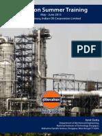 IOCL Haldia Refinery Summer Training Report
