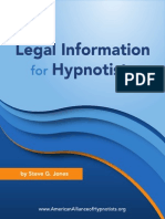 Legal Information for Hypnotists