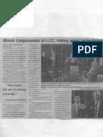 illinois congressman talk green technology