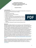 WFGSL Seeking Solutions Symposium Summary Final