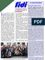 Infosidi n°19 - Les 25 ans de la Chaîne de Solidarité pour le financement