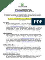 Harrison UMC Event Checklist Updated July 17 2013 Webpage