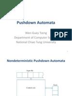 7. Pushdown Automata