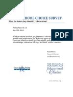 Texas K 12 School Choice Survey