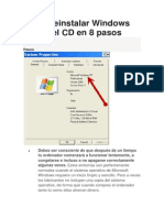 Cómo reinstalar Windows XP sin el CD en 8 pasos