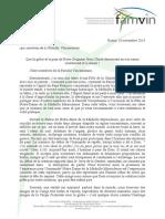 Circulaire sur la fête de Notre-Dame de la Médaille Miraculeuse 2013 (Français)