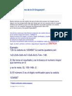 Famoso Algoritmo de La CI Uruguaya