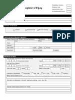 Register of Injury