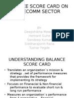 25786149 Balance Score Card on Telecomm Sector