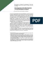 Political Development of World System. A Formal Quantitative Analysis